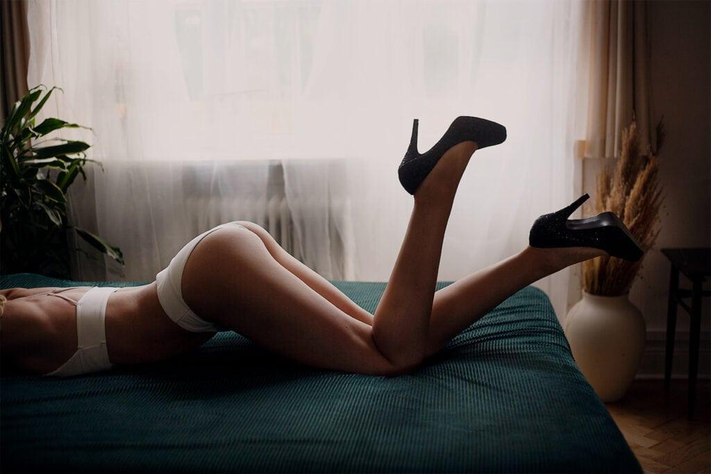 forberedelse til boudoir fotografering