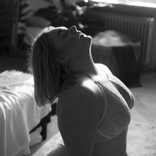 sensuel, smuk, kvindelig, former